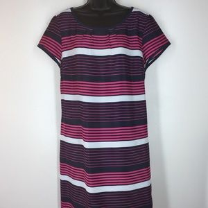 Tommy Hilfiger Women's XL Dress. Stripes Blue Pink
